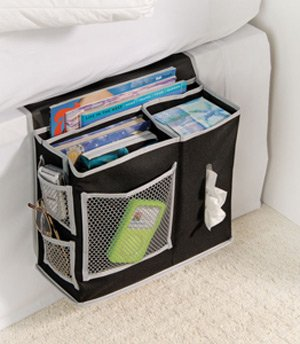 6 Pocket Bedside Storage Mattress Book Remote Caddy