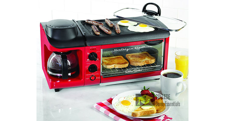 3 In 1 Toaster Oven Coffee Maker Griddle Breakfast Station