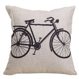 bicycle- Dorm Decor throw pillows