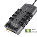 Belkin 12 Outlet Pivot Plugs Surge Protector
