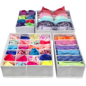 Foldable Storage Drawer Divider Organizers