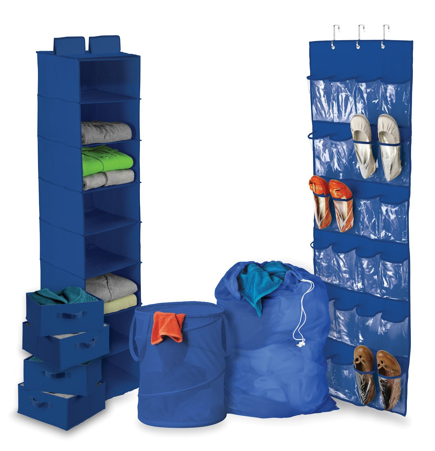 8 Piece Ultimate Dorm Organization Set by Honey-Can-Do