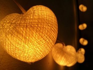 Heart Cotton Ball Lanterns