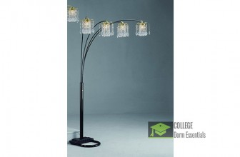 Beautiful Chandelier Arc Floor Lamp by Crown Mark